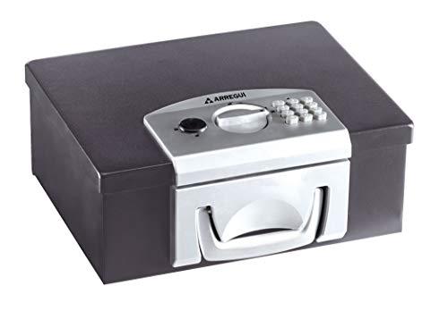 Arregui Bric C9547 Caja de Caudales Maletín Transportable con Apertura Electrónica, caja fuerte maletín, 13 x 32,5 x 25,5 cm, negra