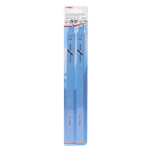 Fogun 2 pcs 305 mm 30,5 cm BIM S1222ef Lames de scie alternative pour couper en métal et bois