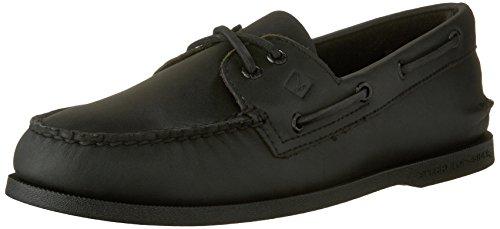 Sperry Top-Sider Men's Authentic Original 2-Eye Boat Shoe Black 10.5 Medium US