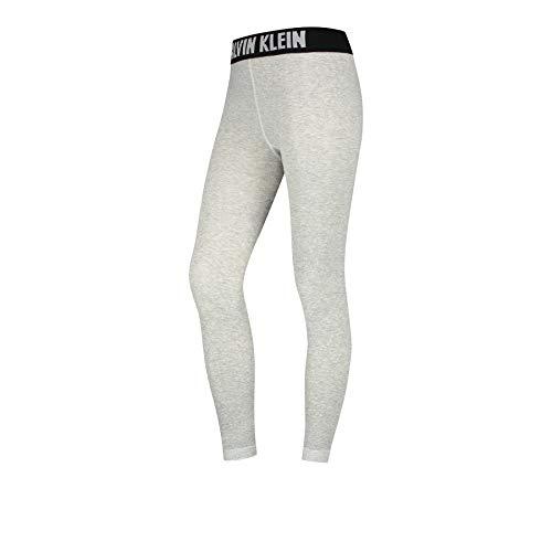 Calvin Klein Women Legging 1p Modern Logo Kara Medias, Gris Claro, L para Mujer