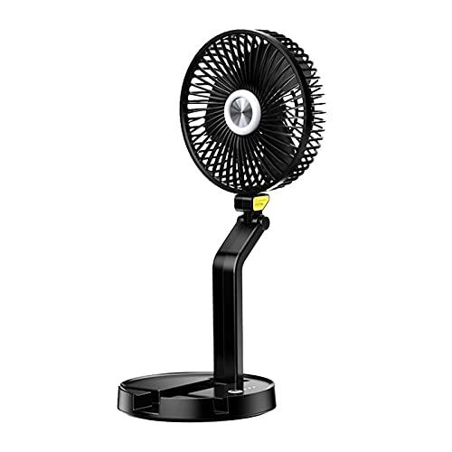 Ventilador plegable, Ventilador de mesa portátil para escritorio, Ventiladores de suelo, Circulador de aire, con luz de respiración nocturna, Ventilador de Torre, para el hogar al aire libre