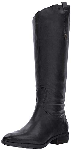 Sam Edelman Penny Leather Riding Boot Inky Navy Basto Crust Tumbled Leather 5