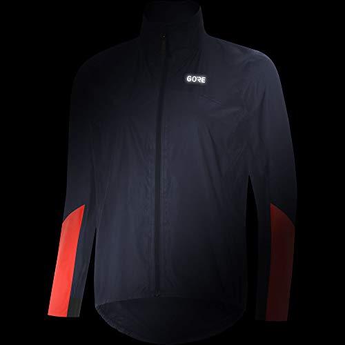GORE Wear Women's Waterproof Cycling Jacket, GORE Wear C7 Women's GORE Wear -TEX SHAKEDRY 1985 Vis Jacket, Size: 34, Colour: Storm Blue/Lumi Orange, 100409