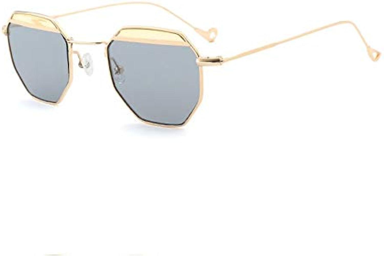 AAMOUSE Sunglasses Retro Small Frame Sunglasses WomenHexagon Sun Glasses for Female bluee Pink Red Lens Sunglasses