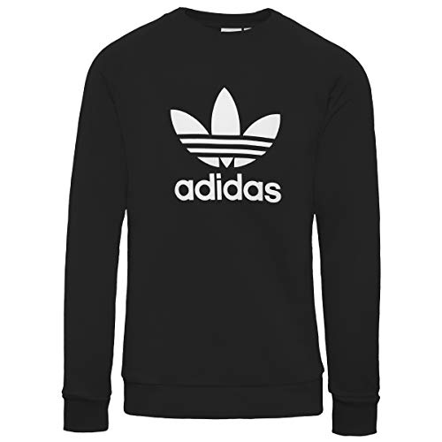 adidas TRF Crew Sweat Sudadera, Mujer, Black/White, 44