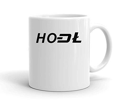 IDcommerce HODL Minimal Design Tasse en Céramique Blanche pour Le Thé Et Le Café