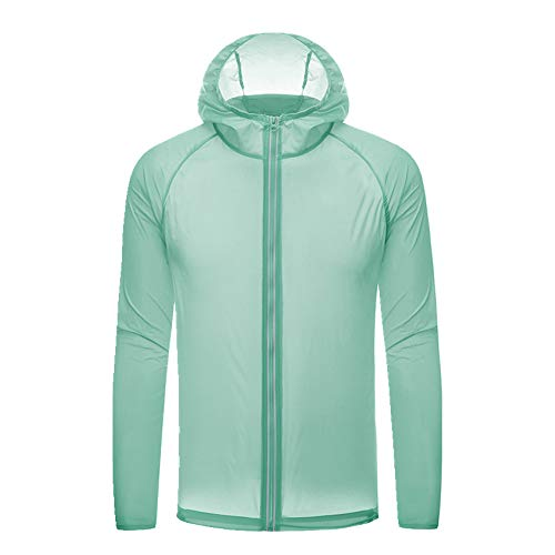Sun Proof Clothing Weibliche Outdoor Kleidung Windbreaker Herren Gr. XX-Large, grün