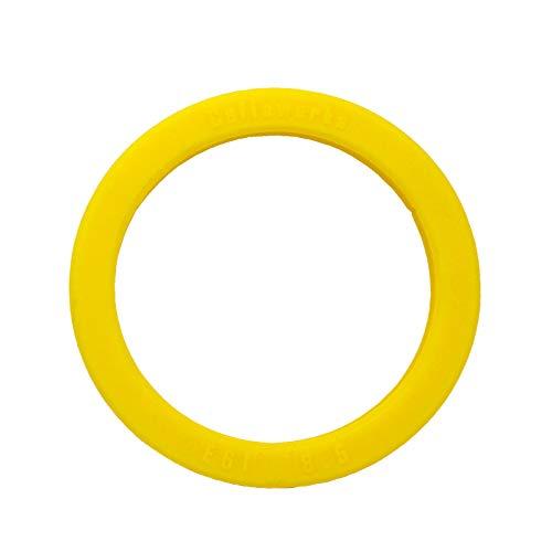 Siebträgerdichtung für Duschsieb, Silikon ø73 x 57 x 8,5mm für E61 Gruppe, gelb