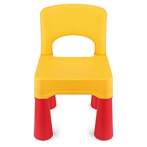 estiones Kids Chair, Toddler Chair, Toddler Chairs for Boys and Girls, Ergonomic Design, Eco-Friendly Durable Plastic, Indoor or Outdoor Use Kids Chairs for Boys and Girls (Lemon Yellow)