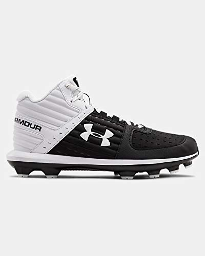 Under Armour Men's UA Yard Mid TPU Baseball Cleats 7 Black