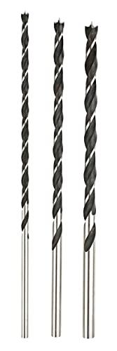 KRAFTIXX 511890 - Juego de barrenas para madera, vigas, 6, 8 y 10 mm, longitud total: 250 mm, longitud de trabajo 155 mm, 3 piezas