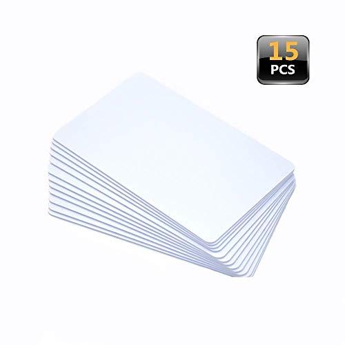 15pcs NTAG215 White PVC Blank Amiibo Cards - NFC NTAG215 TagMo Compatible