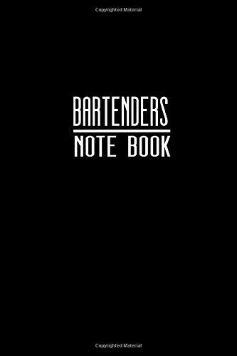 Bartenders Note Book