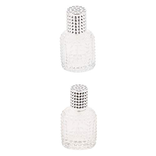 MagiDeal 2pcs Glass Perfume Empty Spray Bottle Pump Container 30/50ml Silver