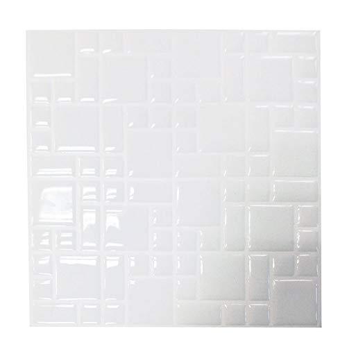 Tile & sticker 3D Gel Effetto Mosaico Autoadesivo Mosaic Wall Tile Decal - Basta staccare e attaccare al Completamente trasforma la Tua Cucina, Bagno o Dove Avete Piastrelle (10 Fogli 25,4 x 25,4 cm)