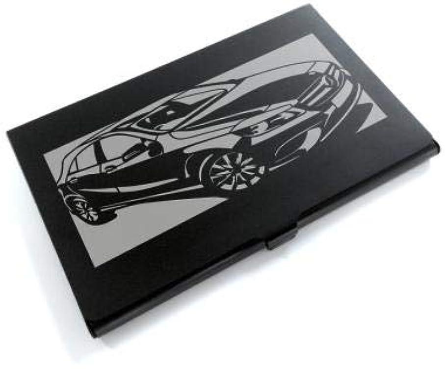 返還帆あごブラックアルマイト「メルセデス?ベンツ(MERCEDES) A クラス CLASS」切り絵デザインのカードケース