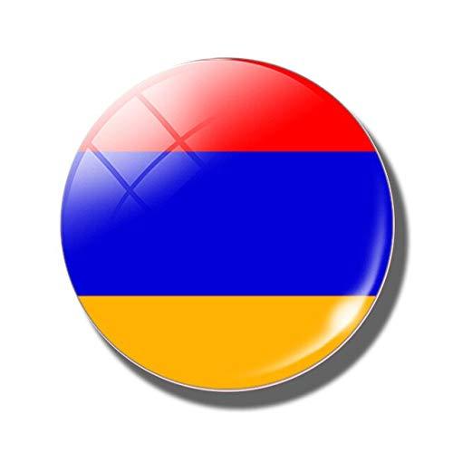 Imán para nevera con bandera de viaje, recuerdo tailandés, tailandés, tailandés, armenio, nevera, imanes de ciudades de cristal, bandera nacional, pegatinas de decoración