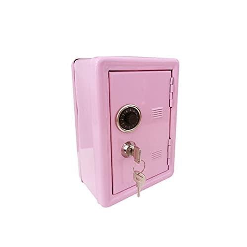 WFS Contador Children's Piggy Bank Creative Mini ATM Mini Money Box Seguridad Moneda Moneda Cash Piggy Bank con Lock Decoración para el hogar Regalo Decoración (Color : Large Pink)