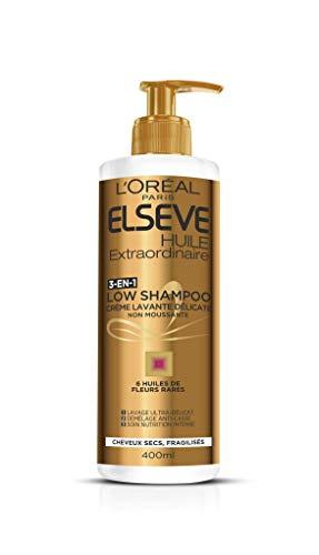 Elsève Low Shampoo voedingsstof-wascrème, per stuk verpakt (1 x 400 ml)