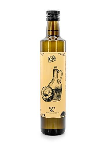 KoRo - Huile MCT 500 ml - Extraction d'huile de noix de coco neutre - Convient parfaitement aux athlètes et aux végétariens