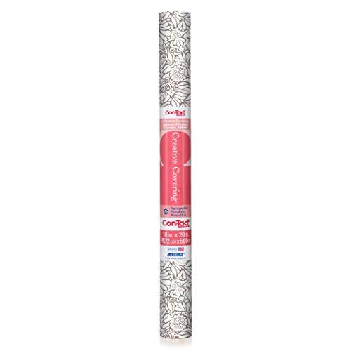 Con-Tact Brand Shelf Liner, 18' x 20', Batik Taupe