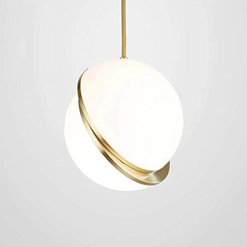 HJW Decorative Lighting Nordic Modern Simple Chandelier Led Light Art Pendant Light Creative Hemisphere Dislocation Ball Small Hang Lamps Interior Decorative Pendant Lamp Loft Ceiling Illumination F