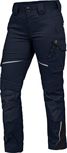 Leib Wächter Flex-Line Damen Arbeitshose Bundhose (Marine/schwarz, 40)