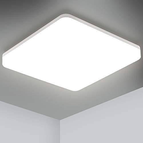 Oeegoo LED Deckenleuchte Bad, IP44 Wasserdicht Badezimmerlampe, 18W 1800LM Flimmerfrei LED Deckenlampe Wohnzimmer Schlafzimmer Kinderzimmer Küche Balkon Neutralweiß 4000K