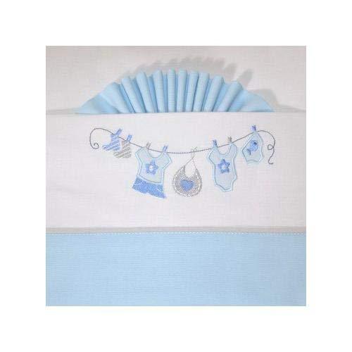 pirulos 68300003 – hoeslaken, 100% katoen bed 60 x 120, kleur blauw