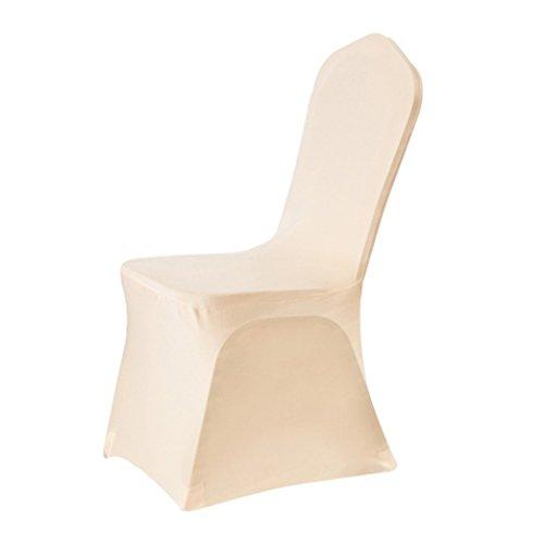 urijk Stretch Folding Chair Covers, Abdeckung von Stuhl Schutz von Sofa Dekoration Schutzhülle für Event Party Hochzeit beige