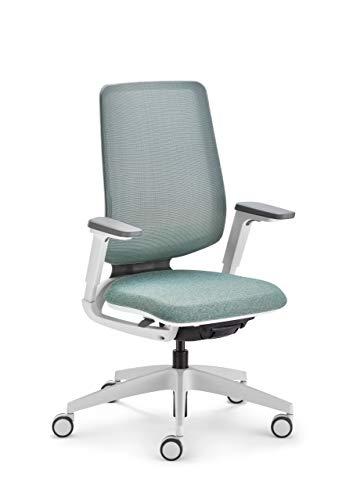 Sedus se:Flex Bürostuhl, Drehstuhl, mit Armlehnen, Membran, Kunststoff, Mintgrün, Polster