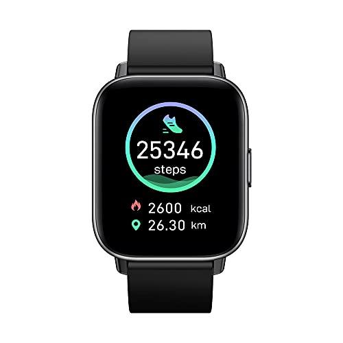 Nuevo 2021 Zeblaze GTS Pro Smart Watch Bluetooth 5.0 Smartwatch Heart Rate Spo2 Level 20+ Modos Deportivos Reloj para Teléfono Android iOS (Black)