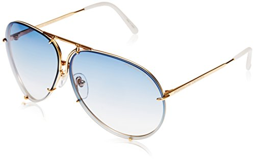 Porsche Design Sunglasses, Gold, 69mm