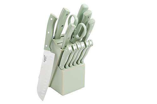 Gibson Home Stainless Steel Cutlery Set, 14 Piece, Mint Green