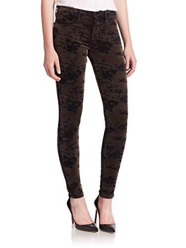 JBrand 815T635 Super Skinny Damen Jeans aus Velvetin Gr. 52, Olive Camo