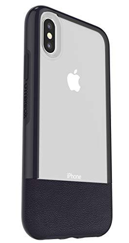 Otterbox Pack Slim Bundle Coque Renforcée Fine + Protecteur décran en Verre Trempé Performance Glass. pour iPhone X/Xs Bleu Nuit Arrière Transparent