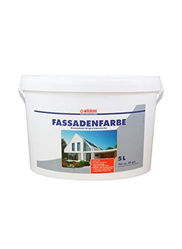 Fassadenfarbe 5 Liter ca. 30 m² Wilckens Farbe Außen Dispersion Fassade weiß Beton Mauerwerk