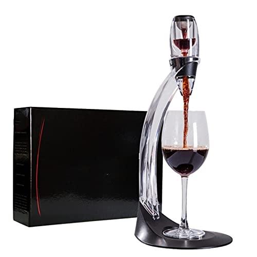 Florador profesional de la decantación del vino tinto con el soporte del soporte del filtro Vodka Aireador de aire rápido for el hogar del hogar de la barra de comedor (Color : WhithIN box)
