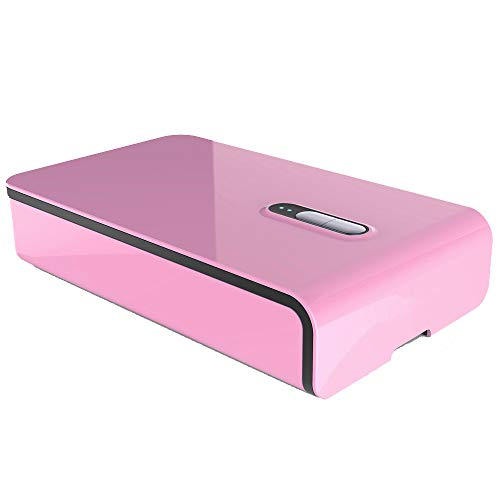 Teléfono Móvil Esterilizador UV Con Carga USB Auricular Joyería Reloj Sanitizer Cleaner,Pink
