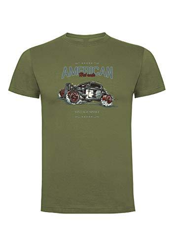 American Hot Rods T-shirt, gemaakt in Frankrijk (wit, grijs, zwart)