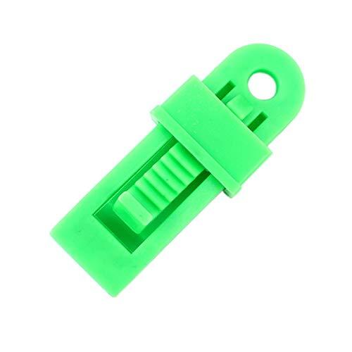 DIDA Zeltzubehör 20 PCS im Freienzelt-Markisen Winddichtes Befestigungsclip Multifunktions Wind Seil Buckle (Color : Green)
