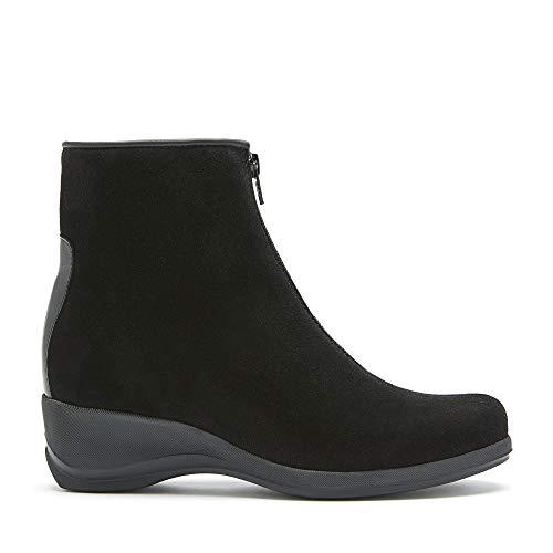 La Canadienne Shiane - Women's Luxury Handmade Casual Brown Waterproof Italian Suede Wedge Heel Bootie (numeric_7)