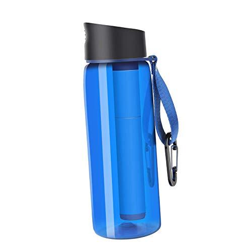 chiwanji Purificador de La Paja de La Botella del Filtro de Agua de La Supervivencia para El Excursionismo de Emergencia con Mochila