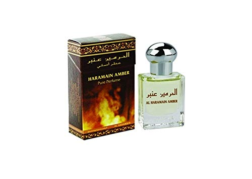 Amber Roll On 15 ml AL Haramain parfümöl qualité arabe Oud Misk Musc oriental
