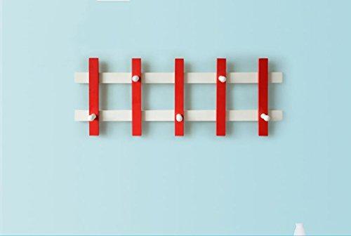 ZXL Achter de deur garderobe, eenvoudige kledinghaken haken tot aan de muur hangen creatieve landelijke kledinghangers van hout aan de muur kledinghaak tas haak 71-100 cm haak tot (grootte: 71 * 26,6 cm)