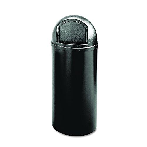 Commercial Products Marshal Classic   Cubo de basura redondo, capacidad de 95 l, negro