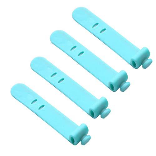 ZYCX123 Organizador del Cable del Auricular del Cable de la devanadera de Silicona Verde Auricular enrolle el Cable Cable Manager encargado de Lazos de Correas 4PCS Parte cosmética