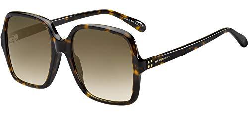 Givenchy Sonnenbrillen 4G Square GV 7123/G/S Havana/Brown Shaded Damenbrillen