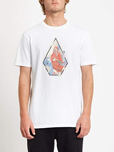 Volcom Nozaka Surf SS Camiseta de Manga Corta, Hombre, White, XL