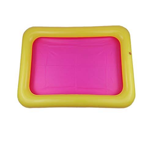 Bandeja de Arena Inflable Bandeja sensorial Mesa de Arena de PVC Juego Divertido Juguetes para ni?os Random60x45cm